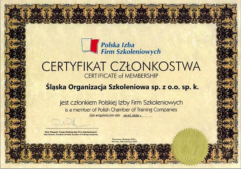 Śląska Organizacja Szkoleniowa w Polskiej Izbie Firm Szkoleniowych